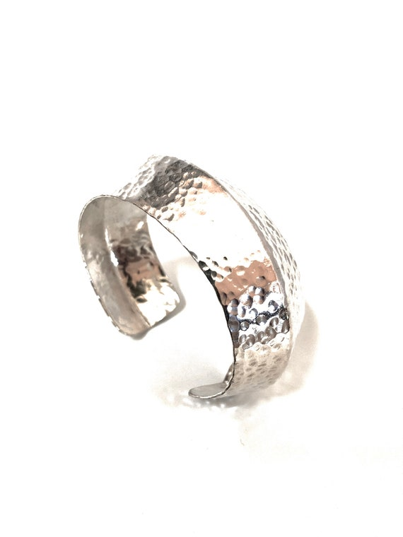 Sterling Hammered and Formed Cuff Bracelet