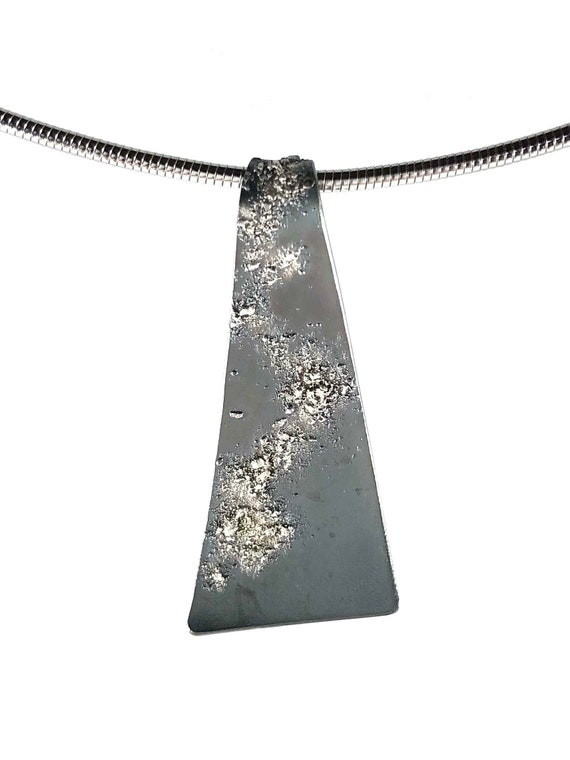 """Silver And Steel 18"""" Pendant"""