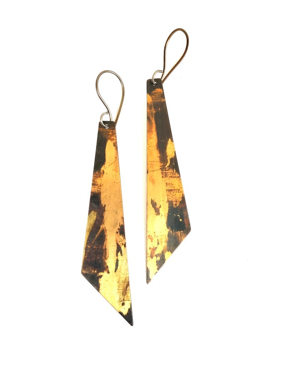 Copper & Gold Dangle Earrings