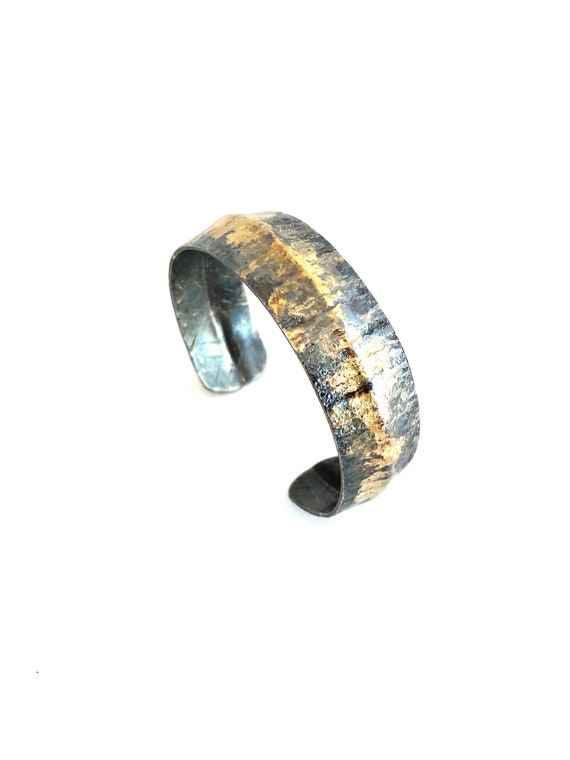Copper & Gold Hammered Cuff
