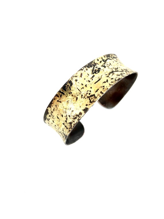 Copper & Gold Anti-clastic Hammered Cuff