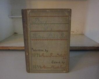 Antique Diary of a Boston Schoolgirl Anna Greene Winslow Houghton Mifflin 1894 Boston schoolgirl of 1771