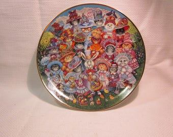 Franklin Mint Bill Bell Easter Purrade collectible plate