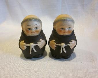 Vintage Goebel Friar Tuck salt and pepper shakers vintage monk salt and pepper shakers