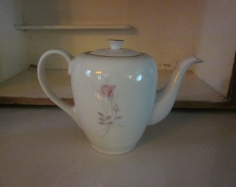 Camelot China American Rose teapot 1950s 1960s vintage teapot coffeepot pink rose