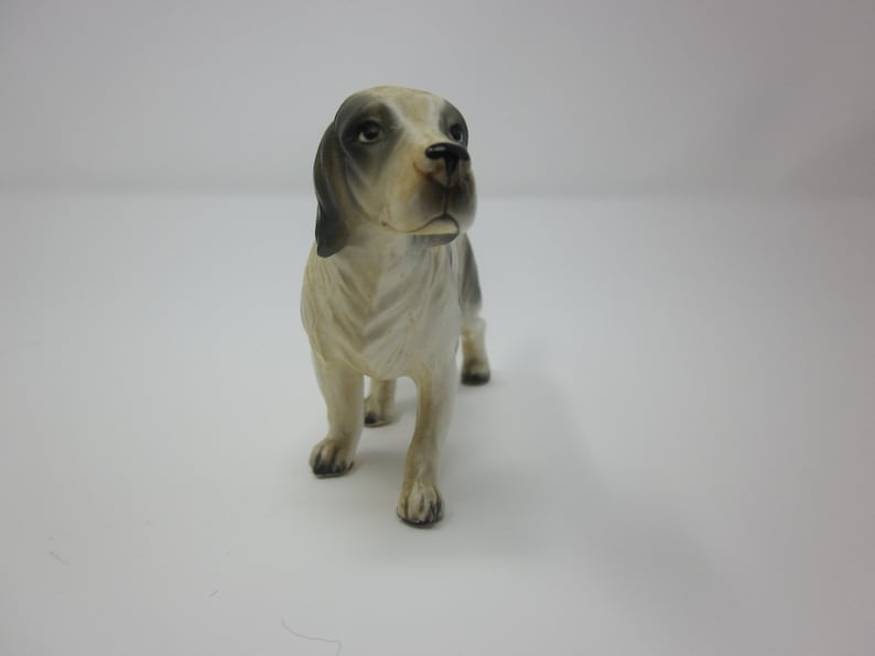 Vintage china dog figurine spaniel collectible made in Japan puppy canine dog