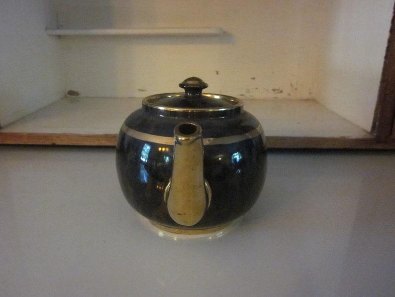 Brown and gold Burslem Sudlow brown betty teapot vintage teapot England