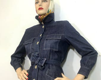 Ladies Denim Jacket with Belt