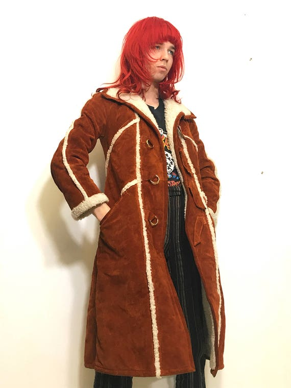 Sheepskin Suede 70s Coat Penny Lane