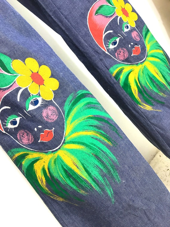 1970s Hand Painted Pants - image 2