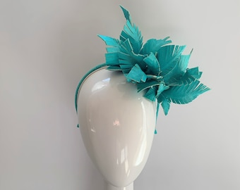 GREEN Wedding | Races | Special Occasion Hat/Fascinator/Hatinator/Headpiece/Millinery/Crown/Headwear | Custom | Handmade | Bespoke - ROXY
