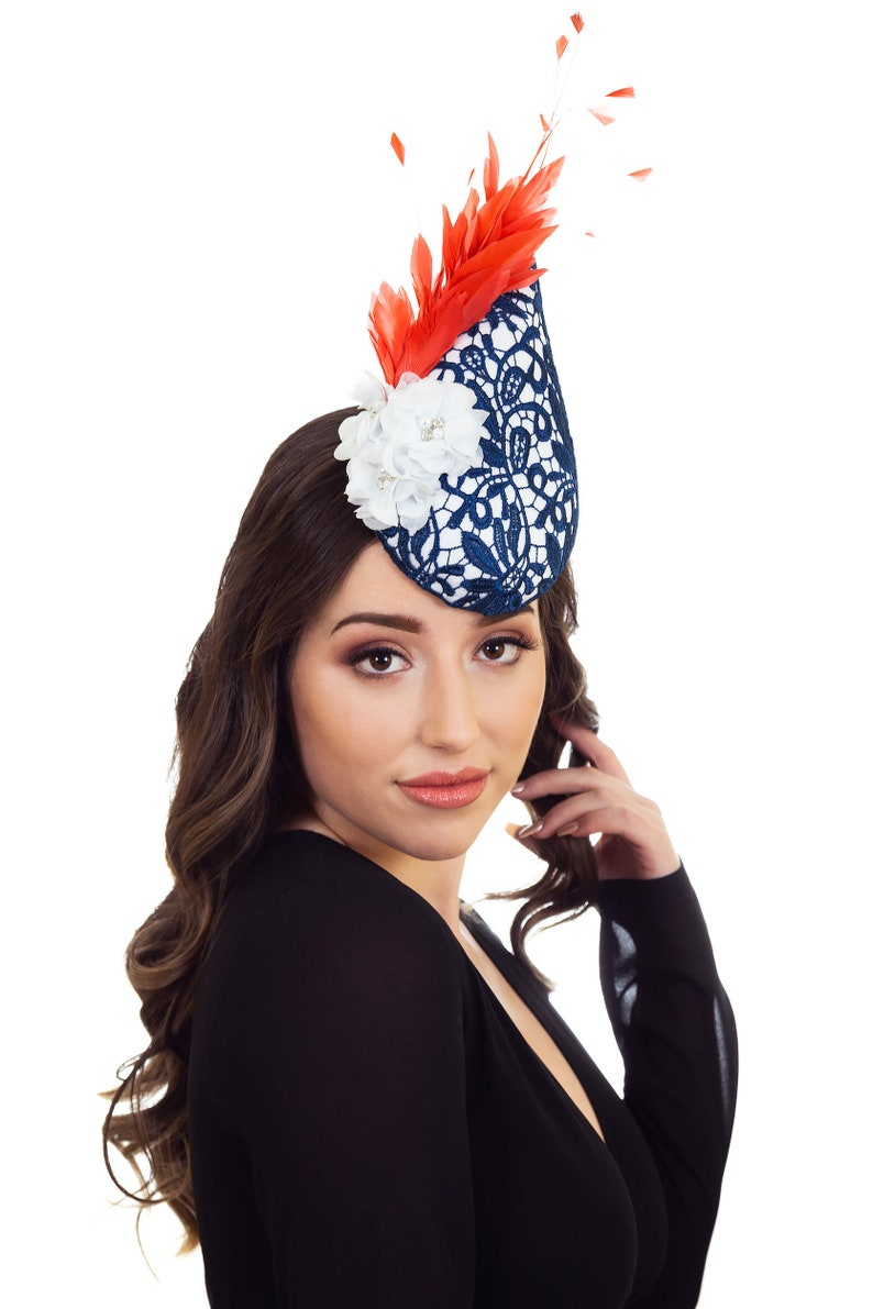 exclusive deals good out x coupon codes Navy Hat, Navy Fascinator, Millinery, Hat, Fascinators, Hat for Races,  Derby Hats For Women, Fascinator Hats, Races Headpiece - GRACE
