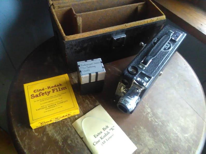 Vintage Cine Kodak Model K 16mm Movie Camera, Antique Movie Camera With  Film And Case, Antique Kodak Camera, 1930's Camera, Eastman Kodak
