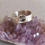 Smoky Quartz Ring for women, Sterling Silver