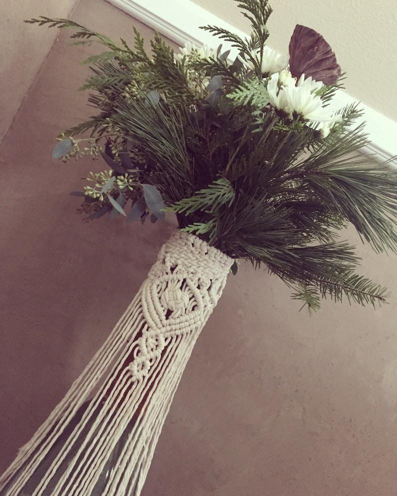 Macrame wrap Bouquet wrap vase wrap wedding accesory image 0
