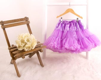 Girls Lilac Wishes Fluffy Pettiskirt Tutu/ Birthday Gift/Dancing/ Special Occasion/Dress Up/Bridesmaid Outfit/Gift for Girl