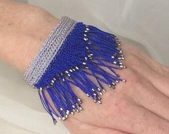 Bracelet, Beaded Bracelet, Fringe Bracelet, Artisan Bracelet, Gift For Her, Woven Bracelet, B 2