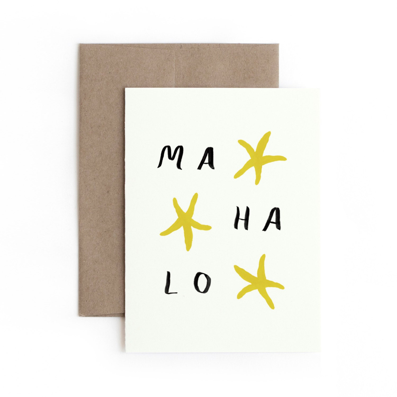 Mahalo Greeting Card Thank You Made In Hawaii