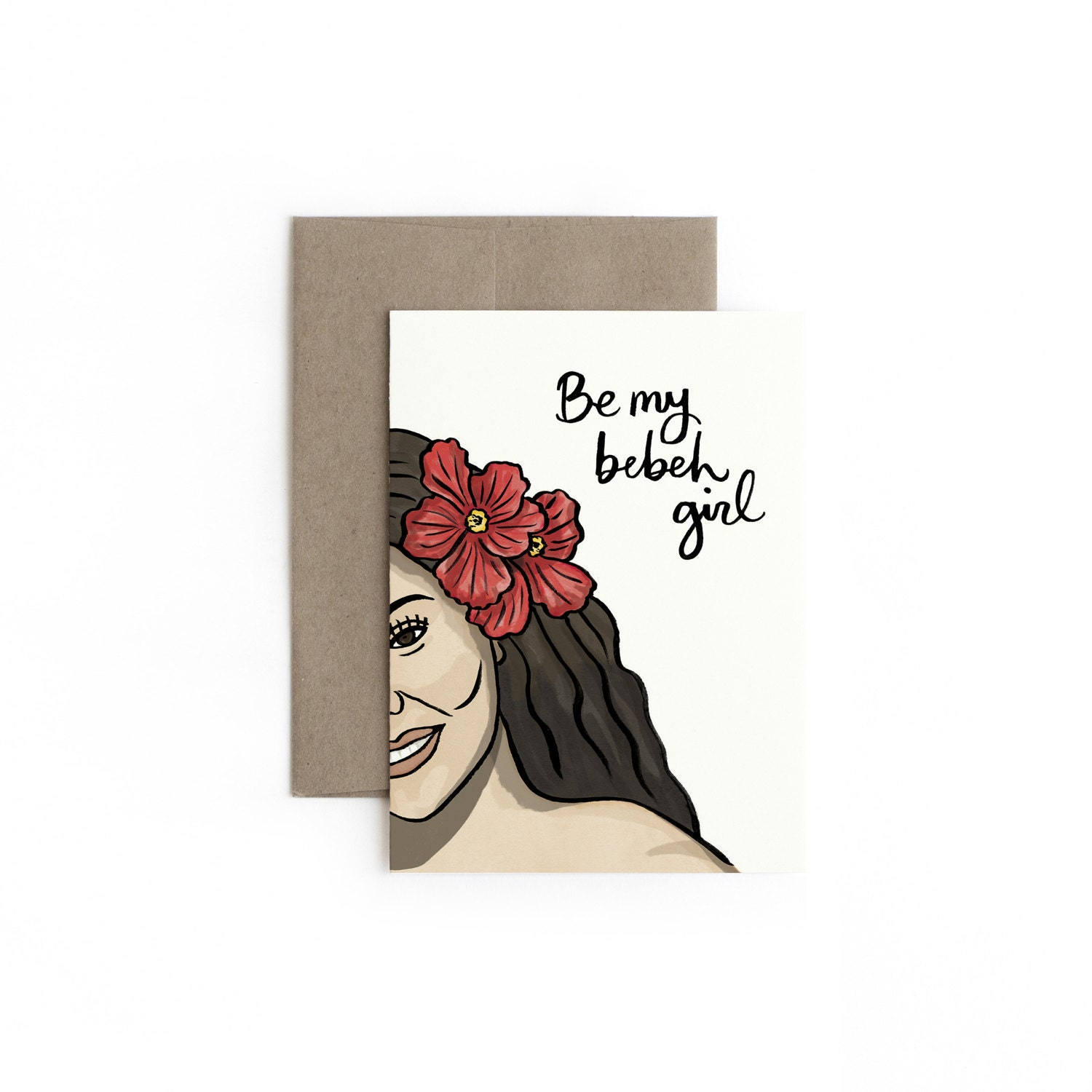 Bebeh Girl Greeting Card Valentines Day Made In Hawaii