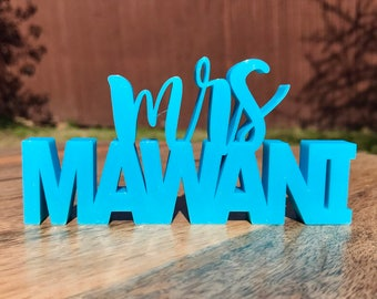 Custom Standing Name Plate Two Layers; Teachers Gift; Teacher Name Sign 3D Printed Personalized