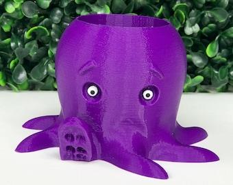 Octopus Planter, 3D Printed Succulent Planter Home Decor, Air Planter