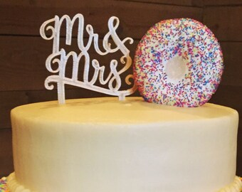 Mr & Mrs Wedding Cake Topper Cake Decoration Wedding Decor, 3D Printed