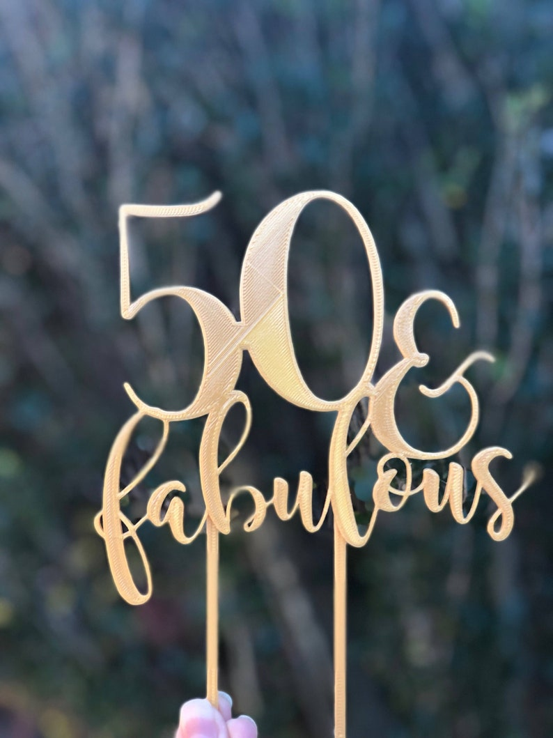 Outstanding 50Th Birthday Cake Topper 50 And Fabulous Cake Topper 50 Etsy Personalised Birthday Cards Beptaeletsinfo