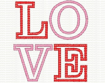 LOVE Applique Embroidery Design, applique LOVE embroidery, applique LOVE stitch design, embroidery, valentines embroidery design, valentines