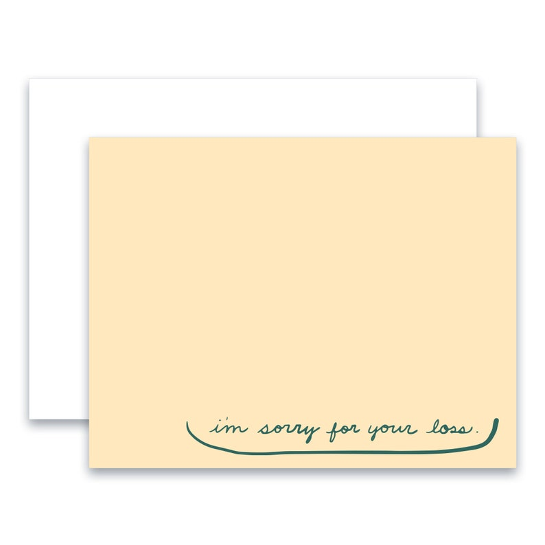 encouragement I/'m Sorry For Your Loss Greeting Card sympathy greeting card