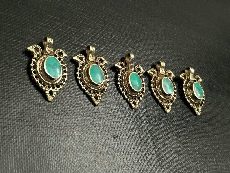 5 Waziri Pendants DIY Costume Designing Boho Belly Dancing Jewelry Supply Charms Banjara Kuchi Gypsy Tribal Pendant Findings Dress Designing