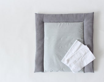 Washable wrapping pad made to measure - waffle lpique - grey