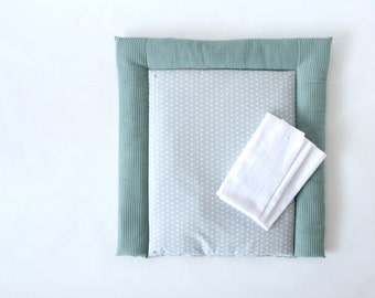 Washable wrapping pad made to measure - Waffle lpique - Eucalyptus