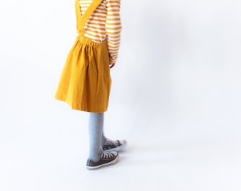 Latzrock Cord with bag - mustard yellow