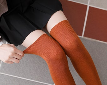 WinterOver Knee Stocking ,Thigh High Socks,Blended Wool Stocking, Thick and Warm Socks,