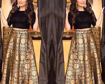 516ea44604c1f Indian valvet crop top brocade skirt lehenga Choli gown maxi dress ethic  wedding customise outfit salwar suit kameez maxi dress