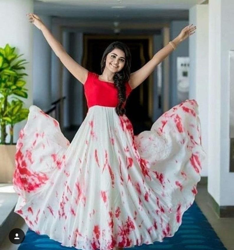 7c6af7cc053a1 Indian designer tie   die dress anarkali gown crop top skirt