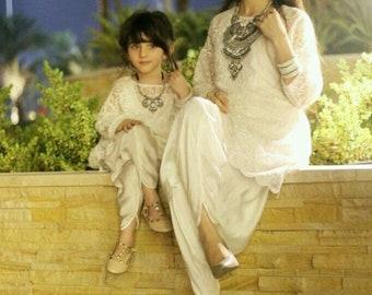 Mother daughter matching dress