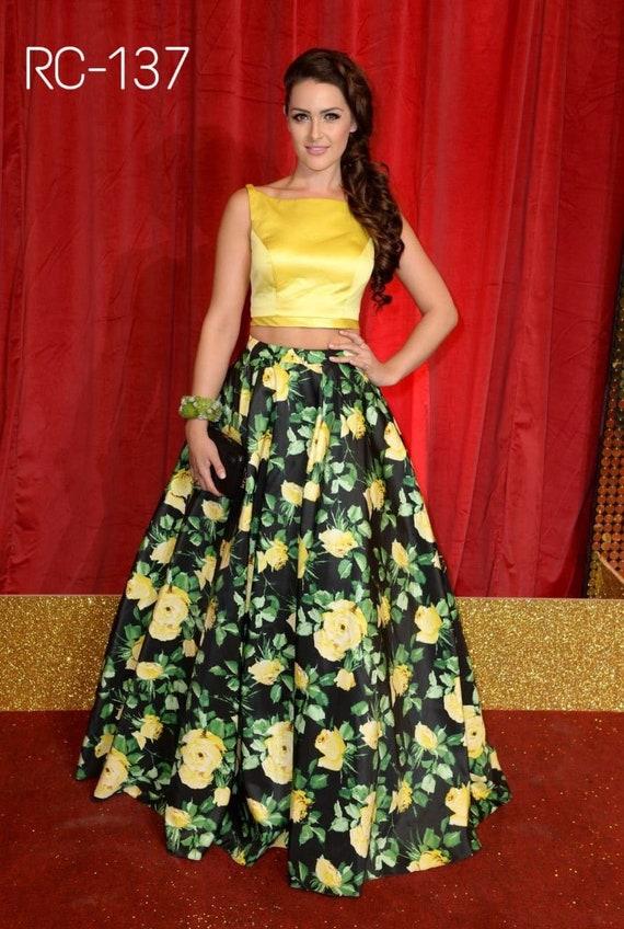 c1ad839ed0aaf Indian designer floral crop top skirt lehenga choli blouse