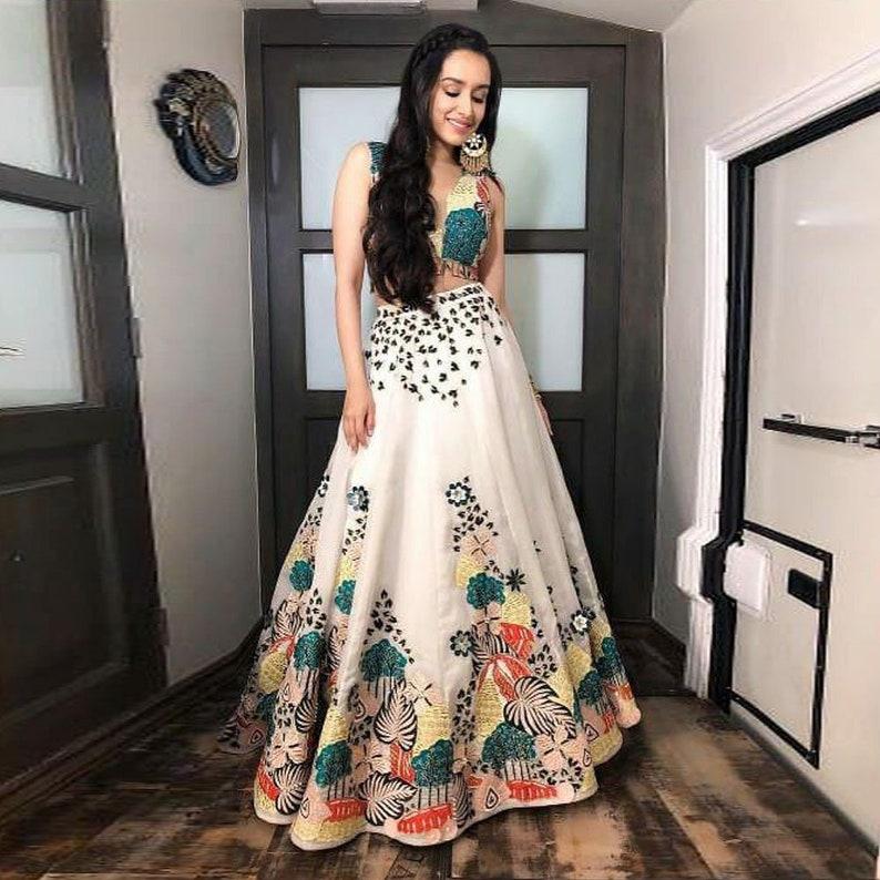 2a66d2ff4 Indian pakistani designer crop top skirt lehenga choli blouse | Etsy