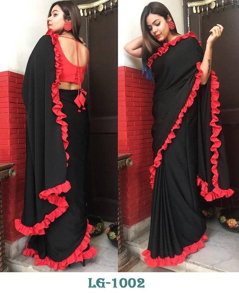 9da80bdd213 Indian designer bolywood saree blouse crop top skirt lehenga