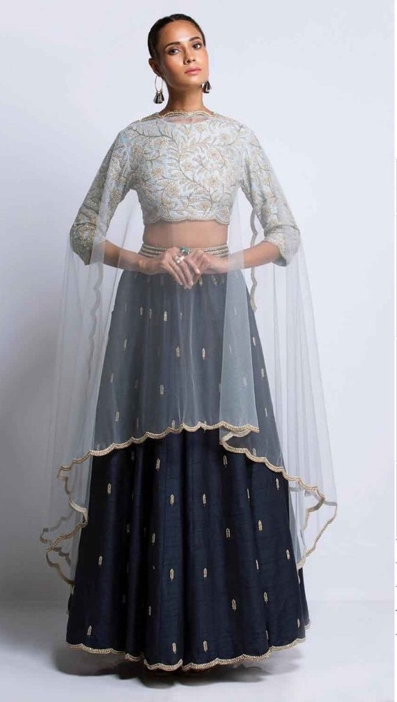Indian Pakistani Designer Heavy Embroidery Lehenga Choli Etsy
