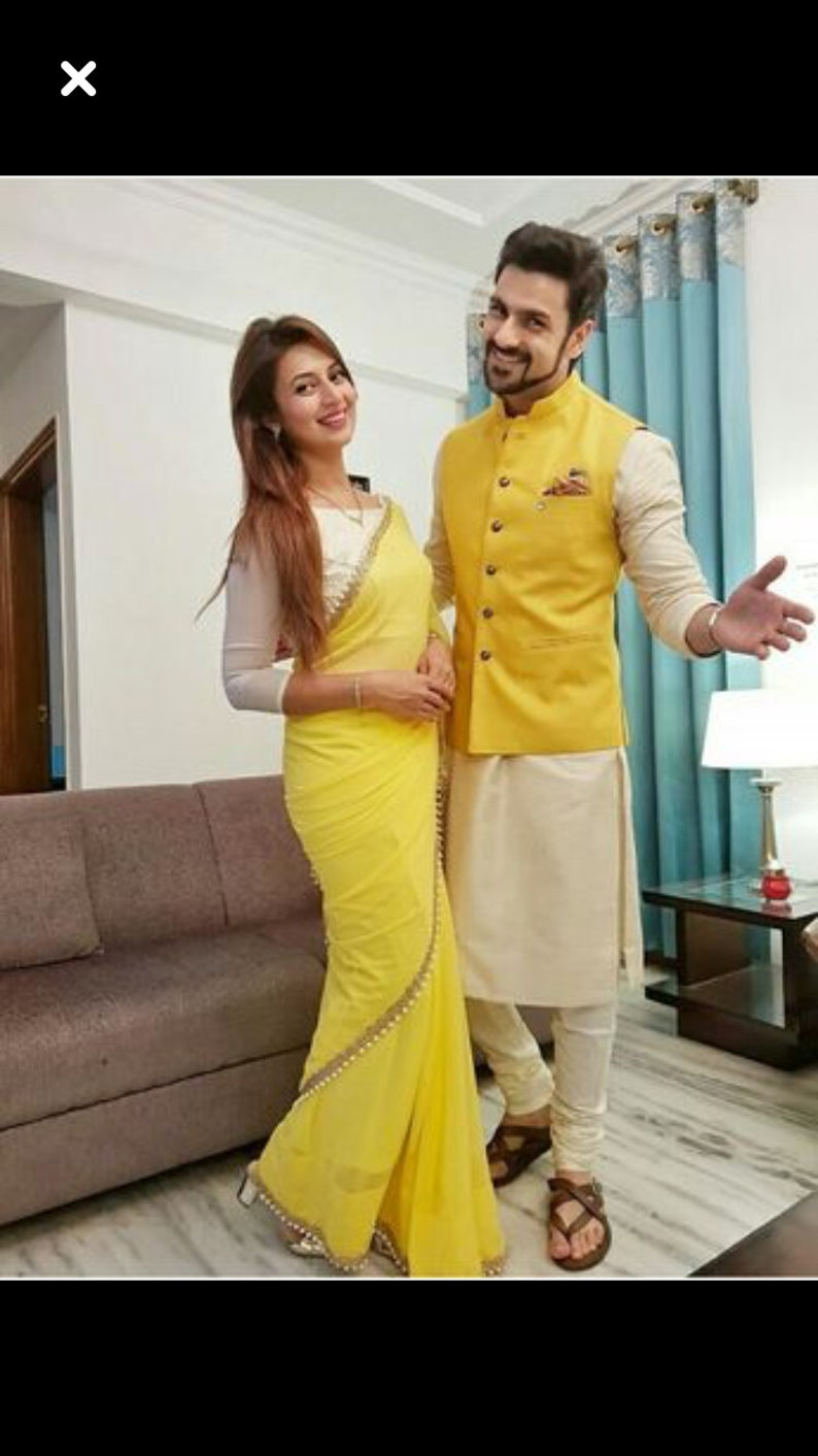 3b2ca432aa96a Couple matching dress saree and kurta pattern