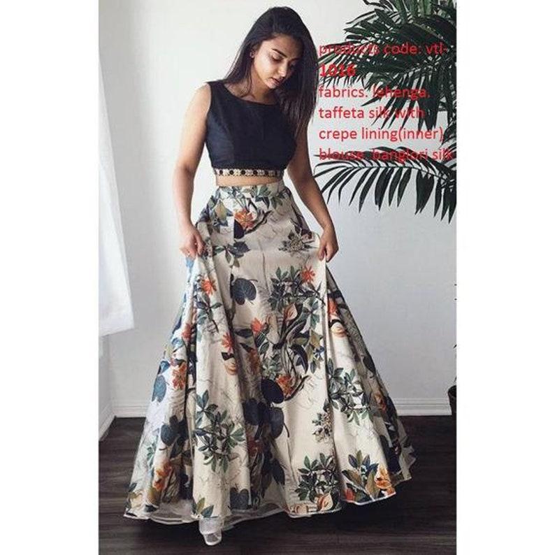 c976590ff Indian pakistani designer crop top skirt lehenga choli blouse | Etsy