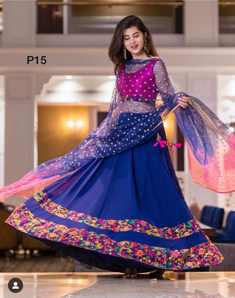 606f92f1d1 Indian pakistani designer crop top skirt lehenga choli saree | Etsy