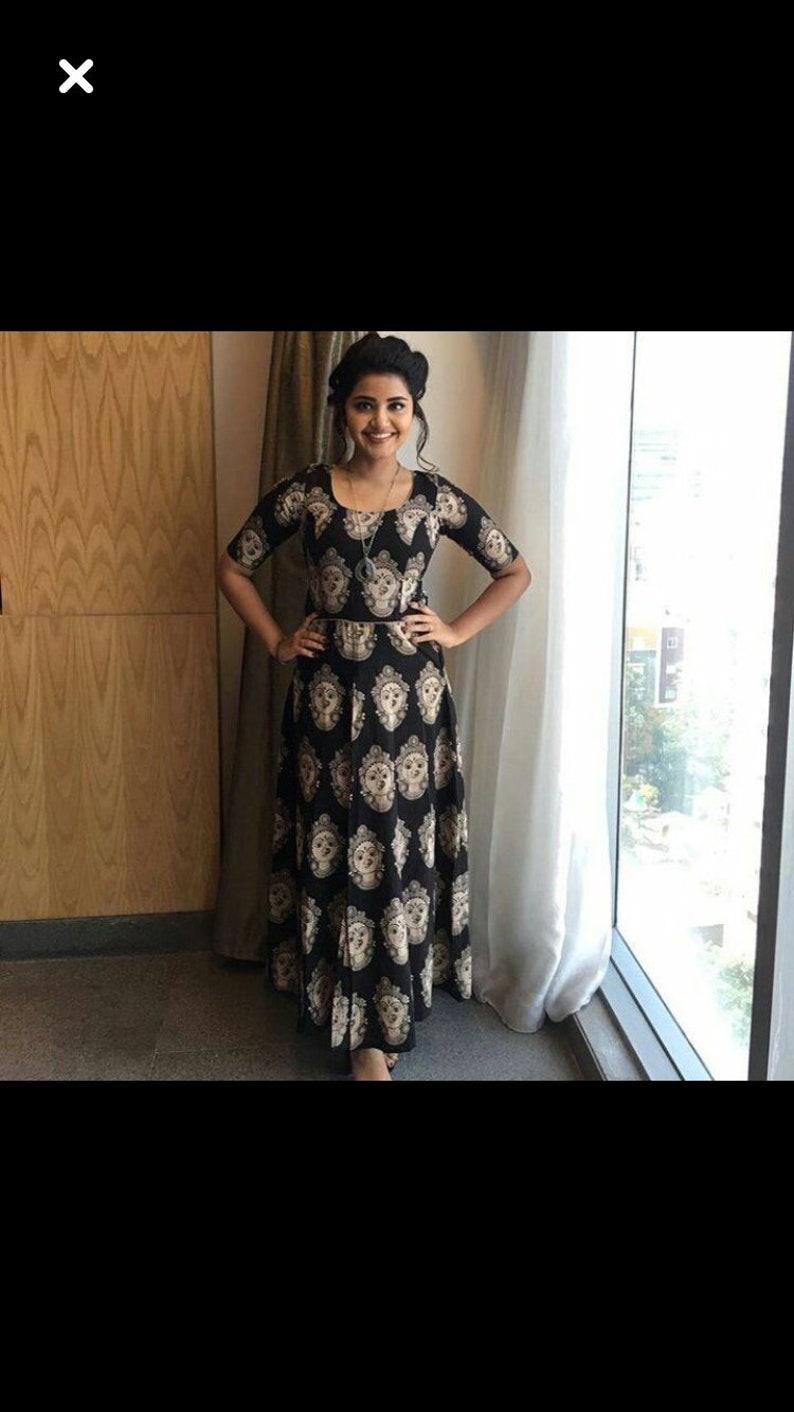 1f82b0d796c Indian anarkali Kalamkari gown maxi dress summer lehenga choli