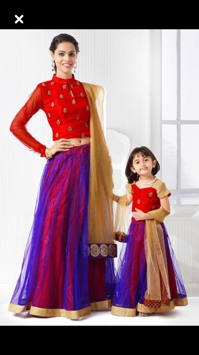 b76c3bbd2a Indian pakistani designer Mother daughter matching dress same | Etsy