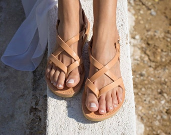 02b7acf765b8 Greek Leather sandals