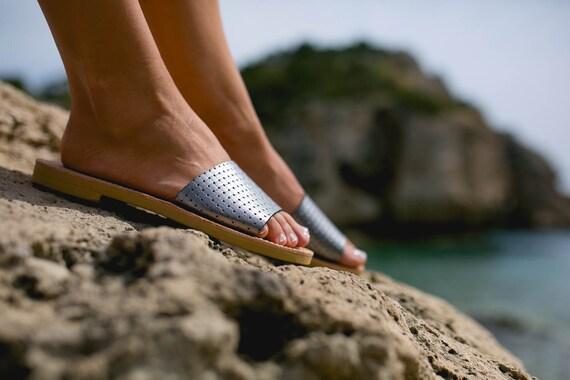 Sandales cuir en grec femmes Slide Trisk sandales sandales UUSaqnrx