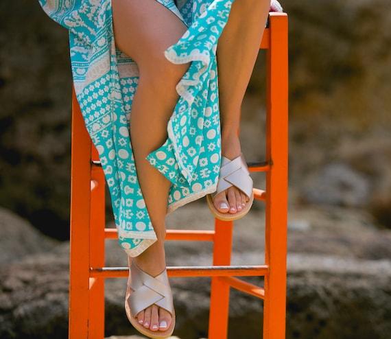 Elegant Women's sandals Greek Ancient greek sandals IOLE Triskelion sandals sandals Leather nF00XqO