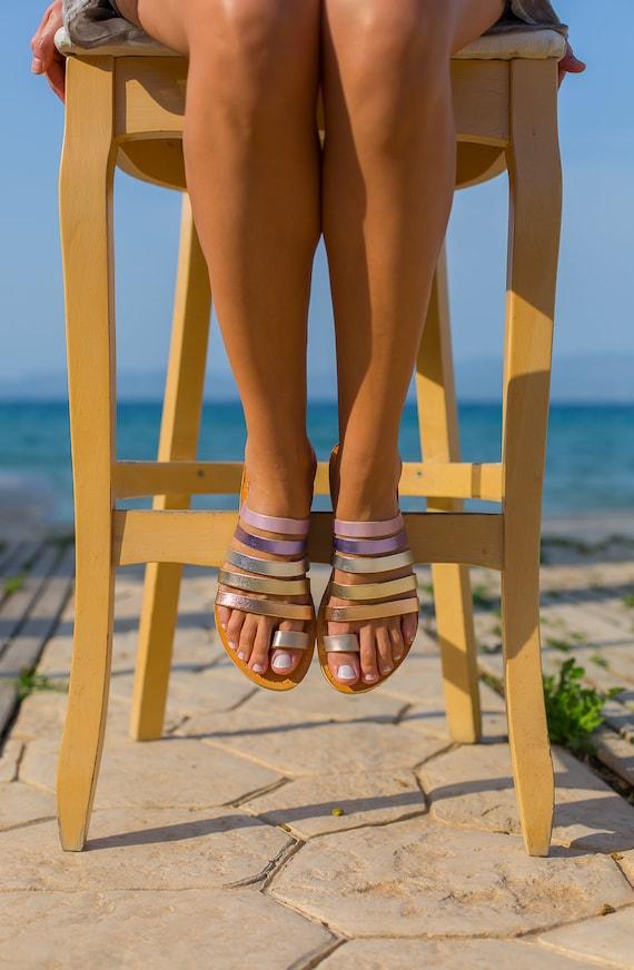 cuir sandales sandales en grecques des antiques grec Sandales sandales 5qgwt6t